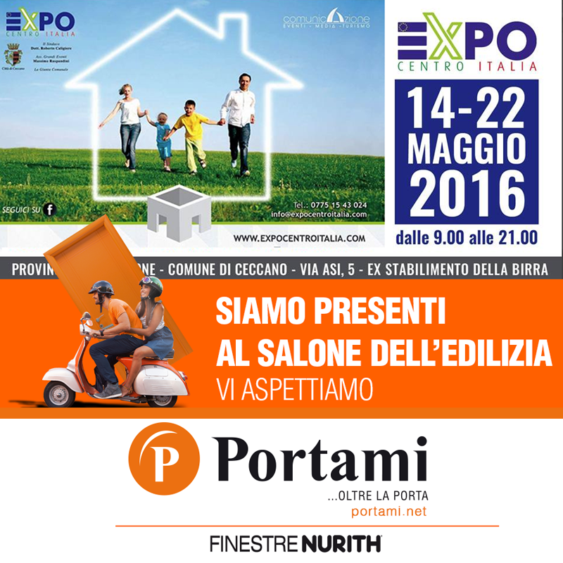 FINESTRENURITH with PORTAMI from Anagni (Fr) at the Expo Centro Italia Exhibition